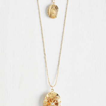 Locket, Love It, Need It Necklace by ModCloth