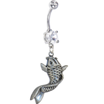 Crystalline Double Gem KOI FISH Belly Ring   Body Candy Body Jewelry
