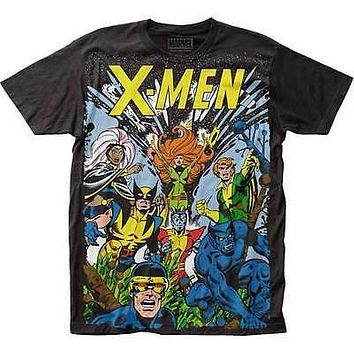 X-Men Big Print Subway The Gang T-Shirt