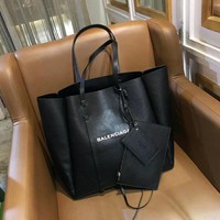 Balenciag Women Fashion Leather Satchel Shoulder Bag Handbag