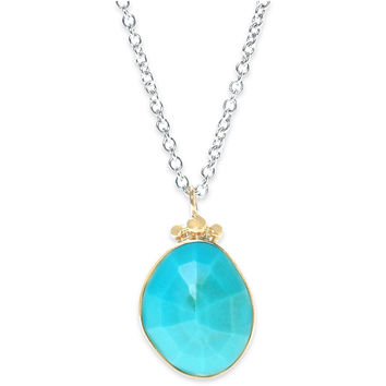 Turquoise & Sterling Silver Necklace, Pendant Necklaces