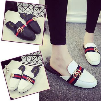 GUCCI Women Fashion Slipper Mules Flats Shoes