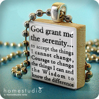 SERENITY PRAYER a pendant charm made from a by HomeStudio on Etsy