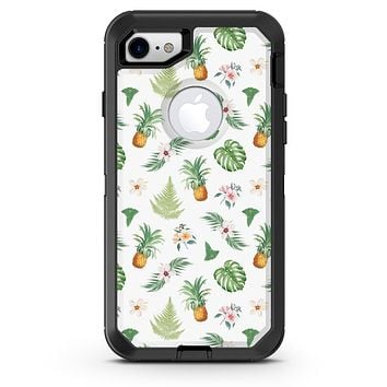 The Tropical Pineapple and Floral Pattern 4 - iPhone 7 or 8 OtterBox Case & Skin Kits