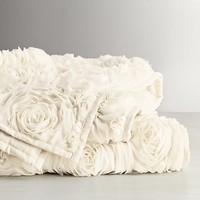 Chiffon Floral Bed Throw
