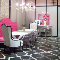 upscale chic dinning room
