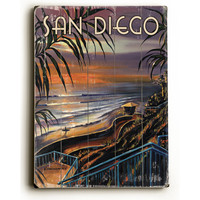 Personalized San Diego Wood Sign