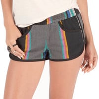 Volcom Multicolor Striped Line Up Shorts - Women's