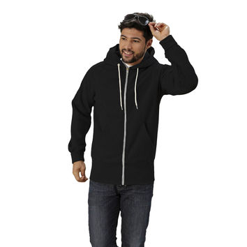 S Curve Raglan Zipfront Hooded Fleece