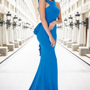Jovani 21899 Jersey Backless Prom Dress