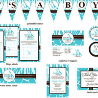 Wild Safari Baby Shower Printable Package by digitalparties