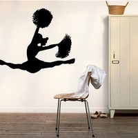 CHEERLEADER WALL VINYL STICKER MURAL ART DECAL M532