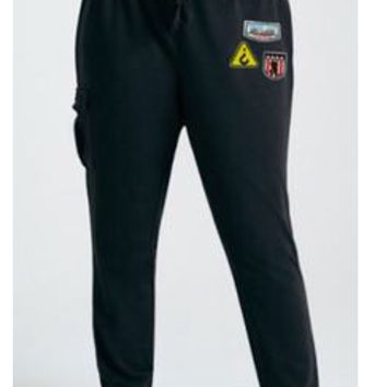 Patched Cargo Joggers Pants