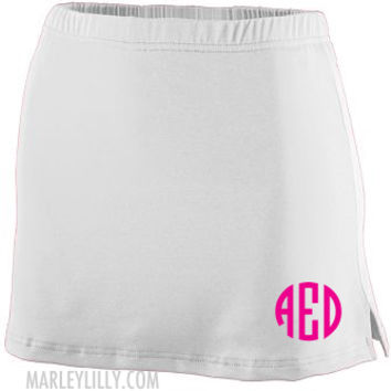 Monogrammed Athletic Tennis and Golf Skirt Skorts Shorts   Marley Lilly