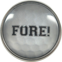 Chunk Snap Charm Golf Ball with Fore