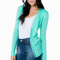 Gold Button Front Cardi
