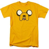 Adventure Time - Jake Head Short Sleeve Adult 18/1 Shirt Officially Licensed T-Shirt