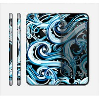 The Wild Blue Swirly Vector Water Pattern Skin for the Apple iPhone 6