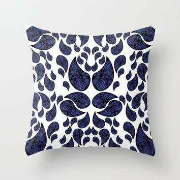 Paisley purple and teal Throw Pillow by VanessaGF | Society6