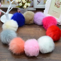 Multi Color Trinket Keychain Pompons Keychains Fur Charms Keychain Fluffy Key Chains Findings For DIY Trinkets Pom Pom Keychain