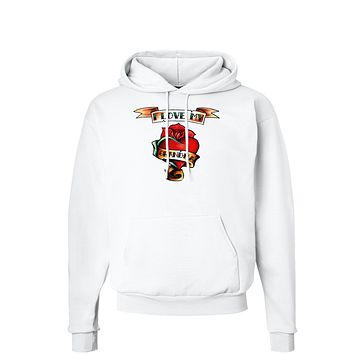 Tattoo Heart I Love My Grandma Hoodie Sweatshirt