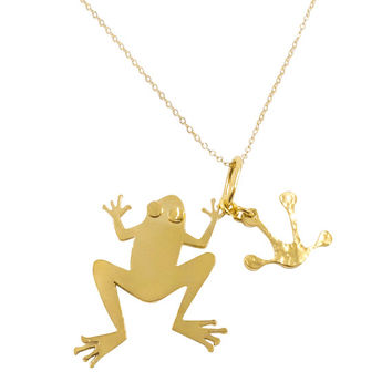 Frog Necklace - Frog pendant, Frog charm, Frog jewelry, Animal Jewelry