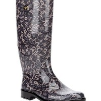 Dolce & Gabbana Multicolor Lace Print Rain Boots Made In Italy - Prada, Gucci, Dsquared and more. Shoes for Him & Her - Modnique.com