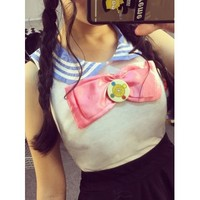 Sailor Moon Bowknot Top