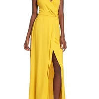 Leith Faux Wrap Maxi Dress | Nordstrom