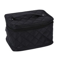 THZY New Zipper Cosmetic Storage Make up Bag Handle Train Case Purse-L black - Walmart.com
