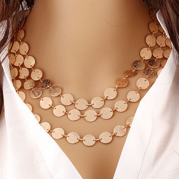 Multi Layer Gold Necklace For Women