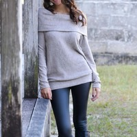 Just My Type Taupe Off Shoulder Sweater Top Shop Simply Me Boutique – Simply Me Boutique
