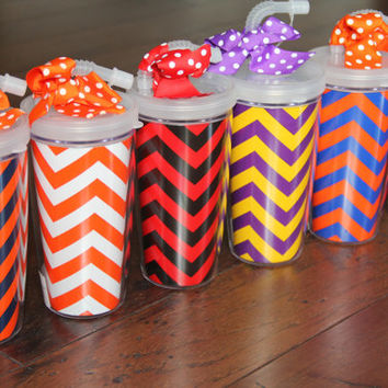 Game Day Tailgate Tumbler Cups Monogrammed by AbigailLeeHome
