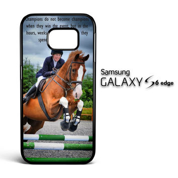 horse jumping photography Y2410 Samsung Galaxy S6 Edge Case