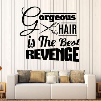 Vinyl Wall Decal Hair Salon Funny Quote Hairdresser Stylist Stickers Unique Gift (ig4319)