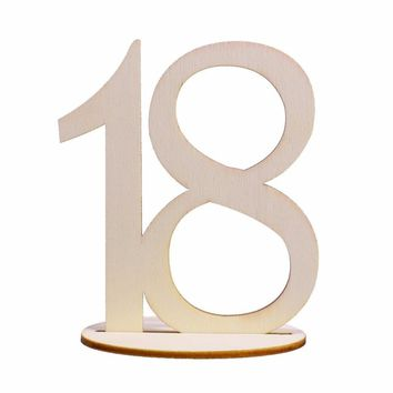 10pcs/Fashion Wooden Wedding Party Supplies --Place Holder Table Number Figure Digital Decoration