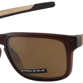 Oakley Holbrook Mix Sunglasses OO9384-0857 Rootbeer | Prizm Tungsten Polarized