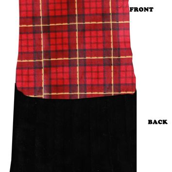 Luxurious Plush Itty Bitty Baby Blanket Red Plaid