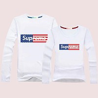 Supreme Women Men  Lover Casual Long Sleeve Top Sweater Pullover