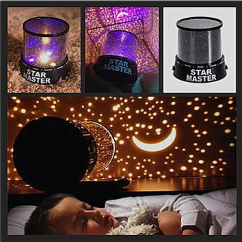 Novelty LED Night Light Star Sky Projector Cosmos Master Romantic Room  Starry Sleeping Lights For baby Kids Children 2 Mode