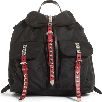 Prada Studded Nylon Backpack | Nordstrom