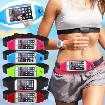 DCCKHY9 Universal Waterproof Sport GYM Waist Bag Phone Case for iPhone 6 6S Plus SE 5G 5C 4G Outdoor Workout Running Pouch Accessories