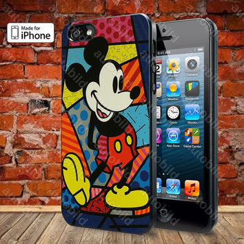 Mickey Mouse Romero Britto Case For iPhone 5, 5S, 5C, 4, 4S and Samsung Galaxy S3, S4