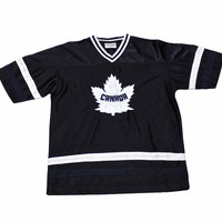 Vintage Navy Blue Canada Maple Leaf Hockey Jersey Mens Size Small
