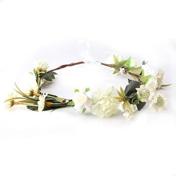 M MISM New arrive carnations Flower Headband Bridal Floral Crown Hair Wreath Mint head wreath wedding accessories headpiece