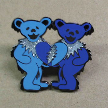 Grateful Dead Dancing Bears Pin hippie SYF Deadhead