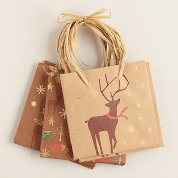 Mini Kraft Animals Value Gift Bags, Set of 3 - World Market