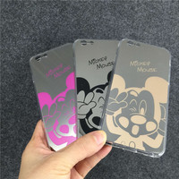 Hot New Mirror Style Cute Sweet Mickey Minnie Mouse TPU Mobile Phone Cases Cover For iPhone 5 5G 5S 6 6G 6S 4.7 6Plus 5.5 Inch