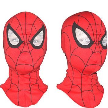 DCK9M2 3pcs/lot Super Cool Spiderman Mask Cosplay Hood Party Masks , Full Head Halloween Masks