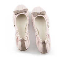 Ballet flats | womens shoes | pink leather flats | flat shoes | Orlene